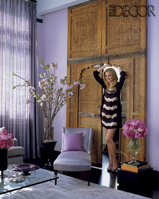 The photos of her apartment inside of the October issue of Elle Decor are